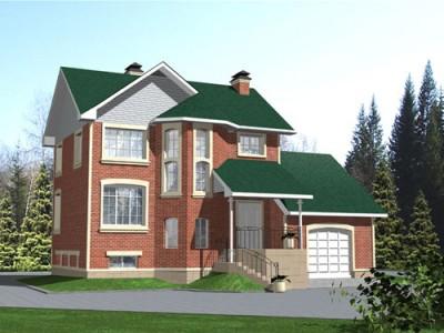 проект дома в английском стиле с гаражом