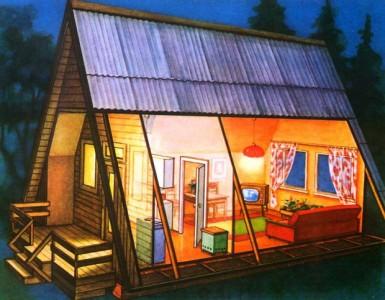 проект дома в виде шалаша