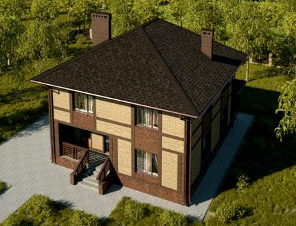 проект двухэтажного коттеджа