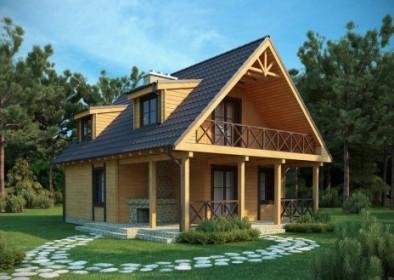 проект двухэтажного деревянного дачного дома