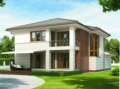 проект двухэтажного частного дома