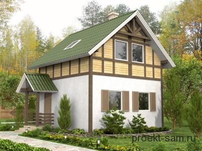 проект двухэтажного дома до 100 кв м