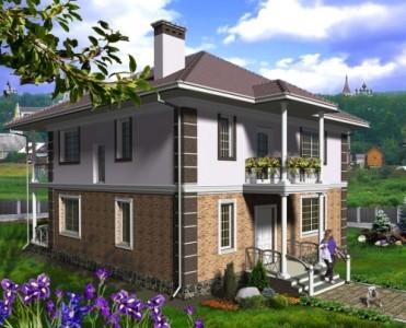 проект двухэтажного дома до 200 кв. м.