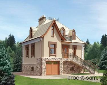 проект двухэтажного дома из газобетонных блоков