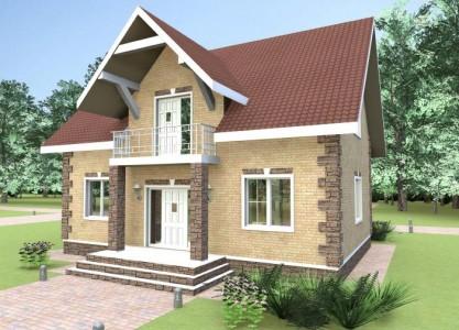 проект двухэтажного дома из пенобетонных блоков