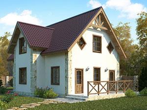 проект двухэтажного сибитного дома
