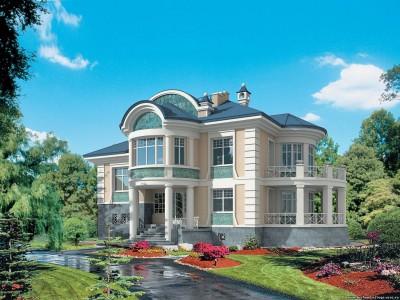 проект двухэтажного частного жилого дома с подвалом