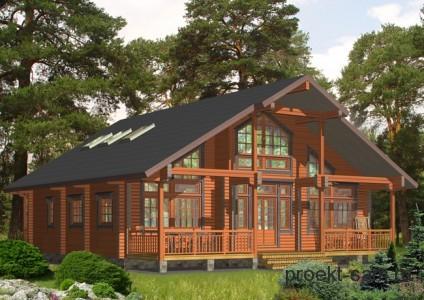проект двухэтажного финского дома