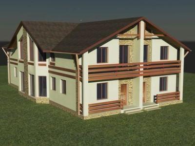 проект двухэтажного квадрохауса