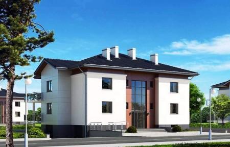 проект двухэтажного многоквартирного дома