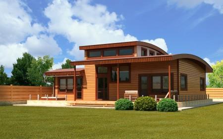 проект деревянного экодома