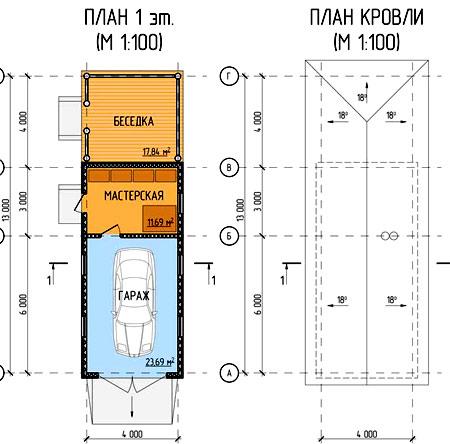 Схемы проектов гаражей