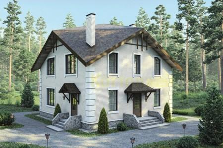 проект каменного дома 10х10