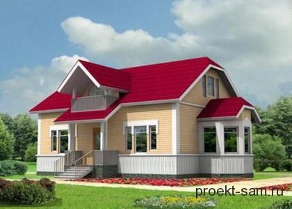 популярный проект каркасного дома