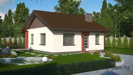 проект каркасного дома до 100 кв м