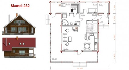 проект каркасного финского дома