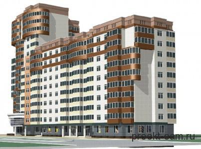 проект каркасного многоэтажного дома