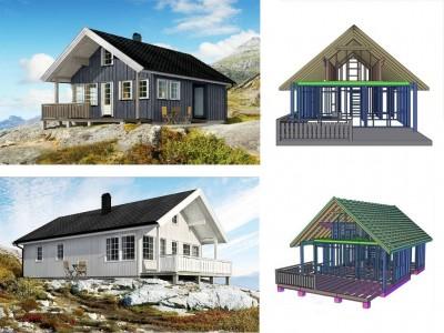 проект каркасного норвежского дома
