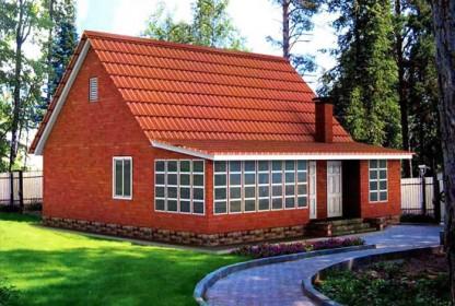 проект кирпичного дачного дома