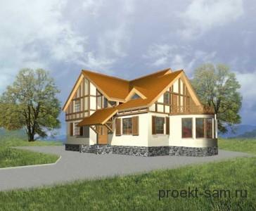 проект кирпичного дома с бассейном