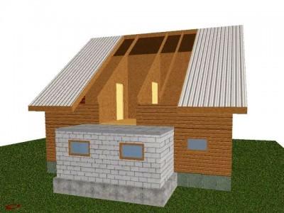 проект кирпичной пристройки к деревянному дому
