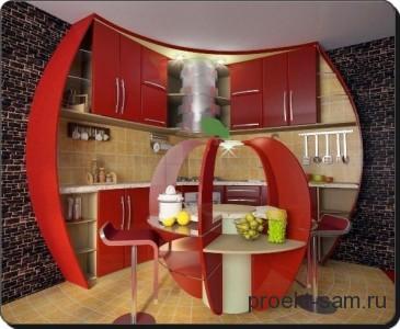 проект корпусной мебели для кухни