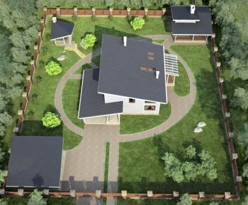 проект коттеджа с односкатной крышей