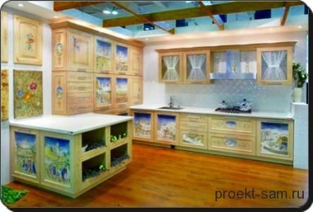 красивый проект мебели на кухне