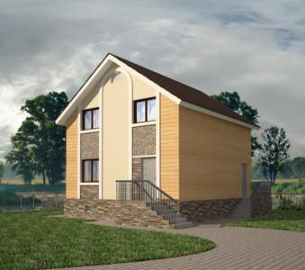 проект квадратного дома с мансардой