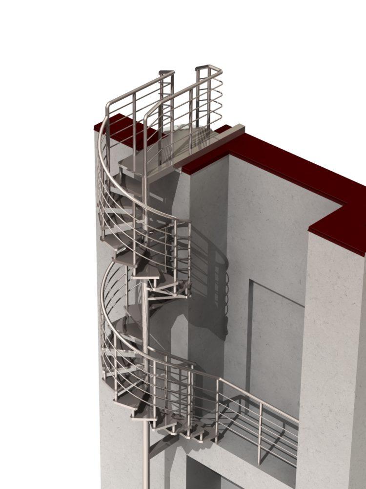 проект лестницы в программе Solid Works