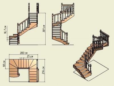 проект лестницы на второй этаж