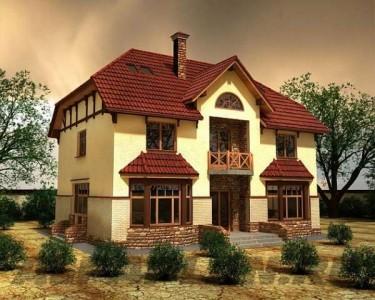 проект малоэтажного дома из пенобетона