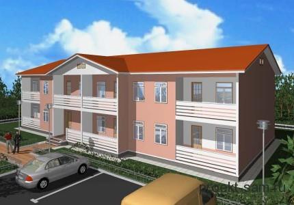 проект многоквартирного жилого дома на 6 семей