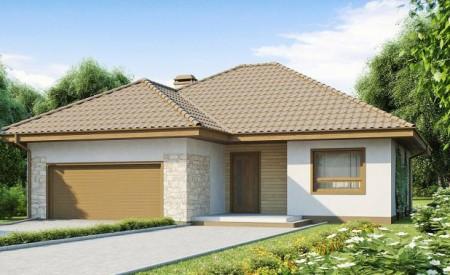 проект небольшого дома с гаражом
