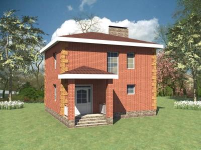 проект небольшого двухэтажного кирпичного дома