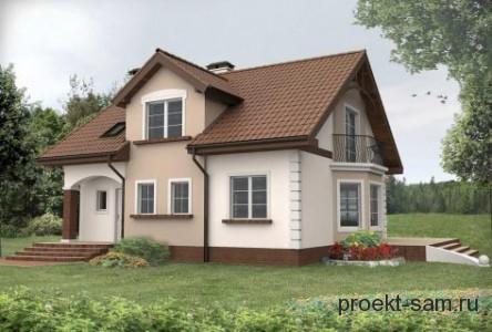 проект недорогого кирпичного дома