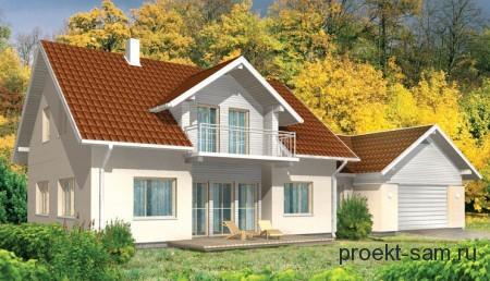 немецкий проект дома с гаражом