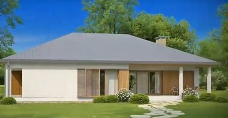 проект одноэтажного американского дома