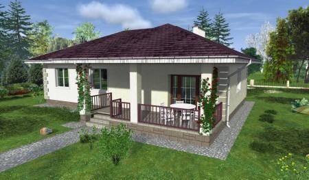 проект одноэтажного дома с летней террасой