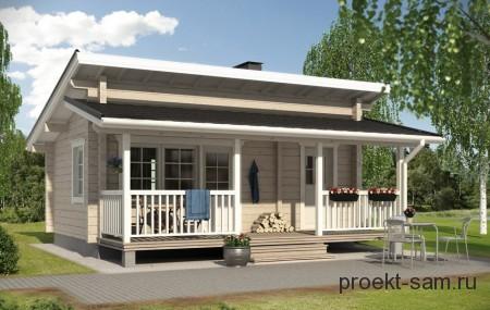 проект одноэтажного финского дома