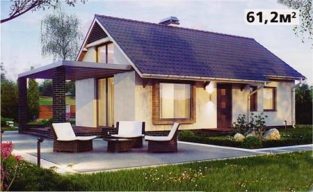 проект одноэтажного прямоугольного дома