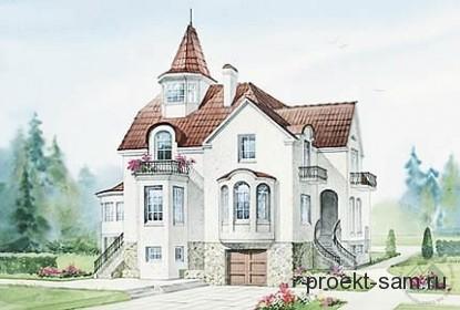 проект особняка в замковом стиле