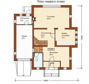проект дома из пенобетона 3