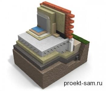 проект плитного фундамента