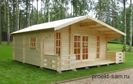 проект садового домика из бруса