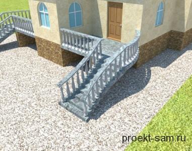 проект внешней лестницы