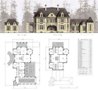 проект загородного дома с планировкой и размерами