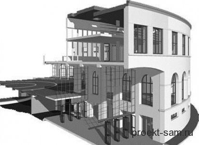 проект здания программа ArchiCad