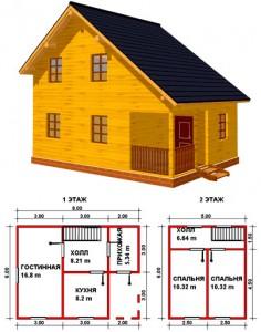 готовый проект и план жилого дома