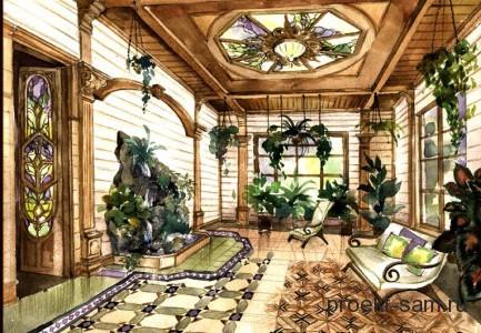 проект зимнего сада для загородного дома